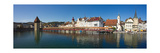 Panoramic View of Old Town Lucerne Photographic Print by George Oze