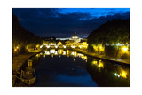 Tiber River at Night, Rome, Italy Photographic Print by George Oze