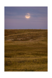 Moonrise Over Badlands South Dakota Photographic Print by Steve Gadomski