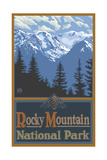 Summer Mountain Range Rocky Mountain National Park Photographic Print by Paul A Lanquist