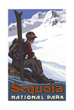 Sequoia National Park High Mountain Skier Pal 1221 Photographic Print by Paul A Lanquist