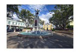 Plaza Colon, Mayaguez, Puerto Rico Photographic Print by George Oze