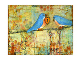 Key to My Heart Birds on a Wire Photographic Print by Blenda Tyvoll