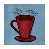 Coffe Art Blue Photographic Print by Herb Dickinson