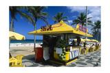 Kiosk on Ipanema, Rio de Janeiro Reproduction photographique par George Oze