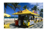 Kiosk on Ipanema, Rio de Janeiro Photographic Print by George Oze