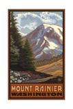 Mount Rainier Wildflowers Art by Paul A Lanquist