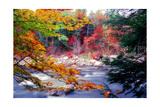 Swift River Autumn Scenic, New Hampshire Photographic Print by George Oze