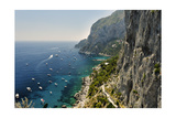 Rugged Coastline at Marina Piccola, Capri, Italy Photographic Print by George Oze