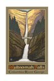 Multnomah Falls Columbia River Gorge Photographic Print by Paul A Lanquist