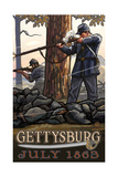 Gettysburg Riflemen PAL 966 Photographic Print by Paul A Lanquist