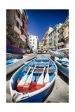 Rowboats of Riomaggiore, Cinque Terre, Italy Photographic Print by George Oze