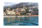 Positano Seaside View, Amalfi Coast, Italy Photographic Print by George Oze