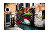 Little Bridge, Venice, Italy Photographic Print by George Oze
