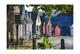 Colorful Historic Houses Mystic Seaport Photographic Print by George Oze