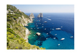 Capri Coastline at Faraglioni, Italy Photographic Print by George Oze