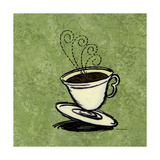 Coffee Art Green Photographic Print by Herb Dickinson