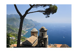 Old Church with Amalfi Coast Vista, Italy Photographic Print by George Oze