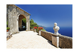 Coastal View from a Terrace, Ravello, Italy Photographic Print by George Oze