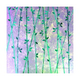 Feng Shui Cane Teal Prints by Herb Dickinson