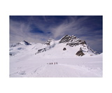 Hikers On The Jungfrau Glacier, Switzerland Photographic Print by Ronald A Dahlquist