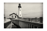 Lighthouse Perspective, Pigeon Point, California Photographic Print by George Oze