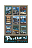 Portland Bridgetown Photographic Print by Paul A Lanquist