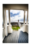 Peak Out to The Sea, Marshall Point, Maine Photographic Print by George Oze