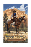 Bryce Canyon Cowboy PAL 1116 Photographic Print by Paul A Lanquist