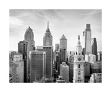 Philadelphia Skyline Black And White Photograph Photographic Print by Annmarie Young