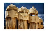 Chimneys Of La Pedrera Photographic Print by George Oze
