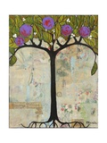 Art Tree Painting Original Modern Tree Past Vision Photographic Print by Blenda Tyvoll