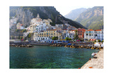 Amalfi Town Coastal View, Campania, Italy Photographic Print by George Oze
