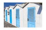 Beach Cabins, Positano, Italy Photographic Print by George Oze