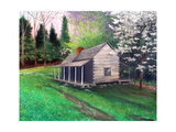 Ogle Cabin Gatlinburg TN Photographic Print by Herb Dickinson