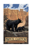 Bryce Canyon Black Bear PAL1118 Photographic Print by Paul A Lanquist