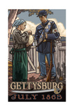 Gettysburg Soldier Drink PAL 985 Photographic Print by Paul A Lanquist