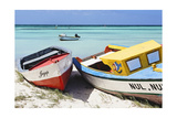 Boats on Eagle Beach, Aruba Photographic Print by George Oze