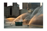 Buckingham Fountain Sidelight Photographic Print by Steve Gadomski
