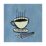 Coffee Art Blue Photographic Print by Herb Dickinson