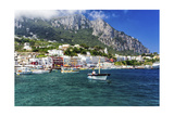 Marina Grande View from the Sea, Capri, Italy Photographic Print by George Oze