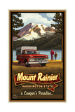 Mount Rainier Camper Photographic Print by Paul A Lanquist