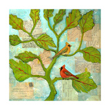 Cardinal Love Notes Photographic Print by Blenda Tyvoll