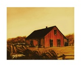 Red Barn Number 6 Photographic Print by Diane Strain