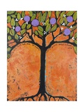 Art Tree Painting Tangerine Tango Tree Photographic Print by Blenda Tyvoll