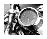 Black And White Motorcycle Speedometer Valokuvavedos tekijänä Annmarie Young