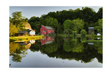 Tranquil River Reflections, Clinton, New Jersey Photographic Print by George Oze