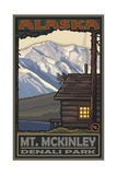 Denali National Park Cabin PAL 003 Prints by Paul A Lanquist