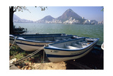 Fishing Boats, Lagoa, Rio de Janeiro Photographic Print by George Oze