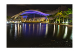 Night View of the Puerto Rican Convention Center Photographic Print by George Oze